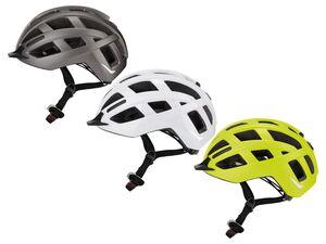 CRIVIT® Helm, mit Rearlight, abnehmbares Rücklicht, 3 Leuchtstufen, inklusive Regenschutz