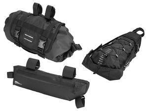 CRIVIT® Fahrradtasche, für den Lenker, Rahmen oder Sattel, mit Klettverschlüssen