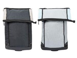 CRIVIT® 2-in-1-Fahrradtasche, 35 l, Trolley mit 2 leichtlaufenden Rollen, 2 Haltehaken,