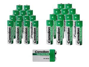 Zink-Kohle Batterie Sparset 25-teilig Camelion
