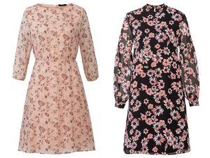 ESMARA®  Kleid Damen, mit Reiß- oder Knopfverschluss, Futter aus Viskose und Elasthan