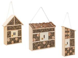 FLORABEST Bienen- und Insektenhotel, aus FSC®-zertifiziertem Holz, mit Aufhängekordel