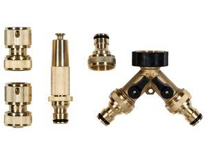 PARKSIDE® Messing-Stecksystem, 4-teilig/ Messing-2-Wege-Verteiler, korrosionsbeständig