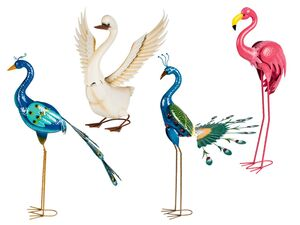 MELINERA® Gartendeko Vogel, mit korrosionsbeständiger Lackierung, 2 Erdspieße