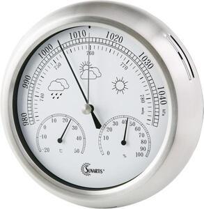 Sunartis Analoge Wetterstation THB 367 SS 2-1060 Vorhersage für=12 bis 24 Stunden