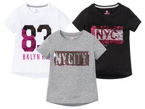 PEPPERTS® Pailletten T-Shirt Mädchen, mit Print, mit Baumwolle