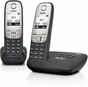 A 415 A Duo Schnurlostelefon mit Anrufbeantworter schwarz