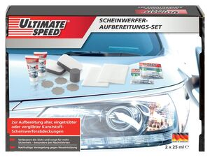 ULTIMATE SPEED® Scheinwerfer-Aufbereitungsset, 13-teilig, für 2 Anwendungen