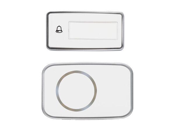 SILVERCREST® Funktürklingel, kinetisch, mit 3 LEDs, 3 Signaloptionen, 17 Klingeltöne