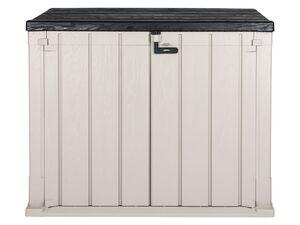 FLORABEST Mülltonnenbox, 850 l Fassungsvermögen mit 2 Fronttüren, aus Kunststoff