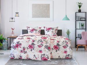 Dobnig Mako-Satin Bettwäsche »Blumen beere«, Wendedesign, mit Reißverschluss