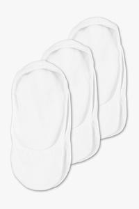 C&A Basic-Füßlinge-3 Paar, Schwarz, Größe: 39-42