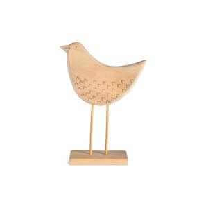 Dekofigur Vogel, L:14,5cm x H:21cm, natur