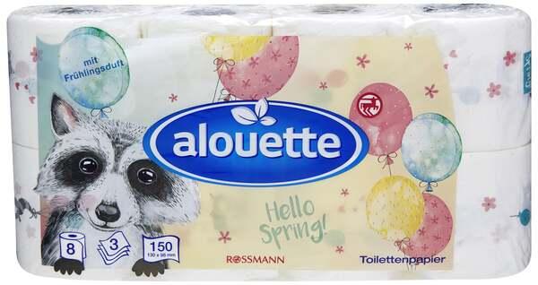 alouette Toilettenpapier mit Frühlingsduft 3-lagig