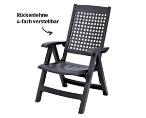 GARDENLINE®  Hochlehner-Klappsessel