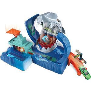 Hot Wheels City Robo-Hai-Angriff Spielset mit Looping, inkl. Spielzeugauto