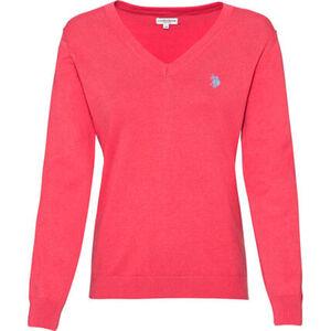 U.S. POLO ASSN. Pullover, V-Ausschnitt, Logostickerei, für Damen