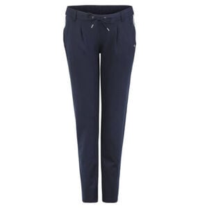 Tom Tailor Denim Stoffhose, Tapered Leg, Gummibund, Kordelzug, unifarben, für Damen