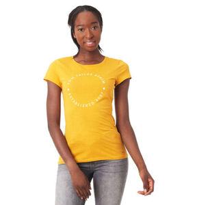 Tom Tailor Denim T-Shirt, Front-Print, Rundhalsausschnitt, Baumwoll-Anteil, für Damen