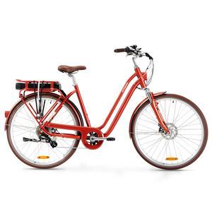 E-Bike City Bike 28 Zoll Elops 900E LF Damen ziegelrot