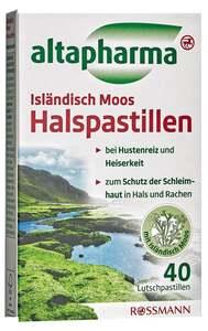 altapharma Isländisch Moos Halspastillen