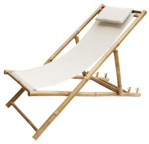Bambus Strandstuhl Beige