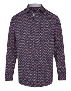Bernd Berger - Dresshemd, langarm, bedruckt, MODERN FIT