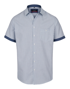 Bexleys man - Freizeithemd, kurzarm, gemustert
