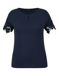 Bexleys woman - Shirt mit Spitze