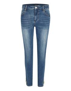Bexleys woman - Jeans mit Perlen und Zierdetails am Saum