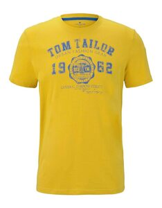 TOM TAILOR - T-Shirt im Basic-Style mit Logo-Print