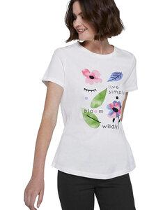 TOM TAILOR - T-Shirt mit großflächig floralem-Print
