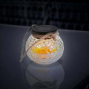 Solar-Tischlicht mit schöner Kordel, ca. 11x9cm