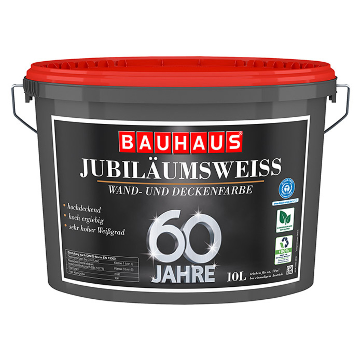 Bild 1 von swingcolor Wandfarbe Jubiläumsweiß 60 Jahre BAUHAUS