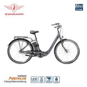 Alu-Elektro-Fahrrad Green 2.5 26er oder 28er - Fahrunterstützung bis ca. 25 km/h - Li-Ionen-Akku mit hochwertigen Markenzellen 36 V/6,6 Ah, 237 Wh - Reichweite: bis ca. 60 km (je nach Fahrweise) - w