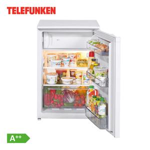 Table Top Kühlgerät mit Gefrierfach TFKS031 A++ · 121 Liter Nutzinhalt Kühlteil  davon 17 Liter Gefrierteil · Maße: H 83,8 x B 54,0 x T 59,5 cm · Energie-Effizienz A++  (Spektrum A+++ bis D)
