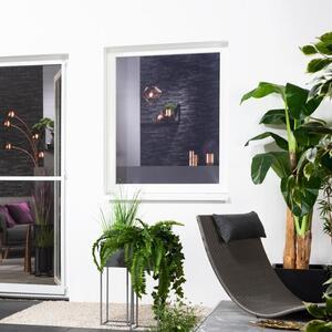 Hecht Fliegengitter für Fenster, ca. 130 x 150 cm - Anthrazit