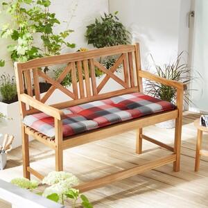 Solax-Sunshine Sitzbank-Auflage, Karo-Rot-Grau