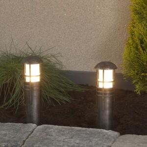 Duracell LED Niedervolt Gartenlampen 2er Set, schwarz silber mix