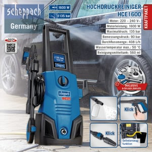 Scheppach Hochdruckreiniger HCE1600