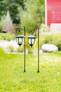 I-Glow LED-Solar-Laterne 2er-Set