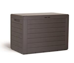 Powertec Garden Kompakt-Auflagenbox - Dunkelbraun