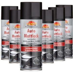Carfit Auto Mattlack - Schwarz 6er Set