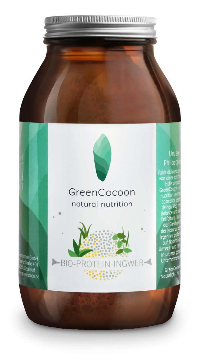 Bild 1 von GreenCocoon Bio vegan Protein Pulver Ingwer