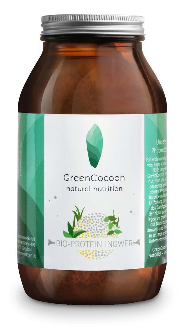 GreenCocoon Bio vegan Protein Pulver Ingwer