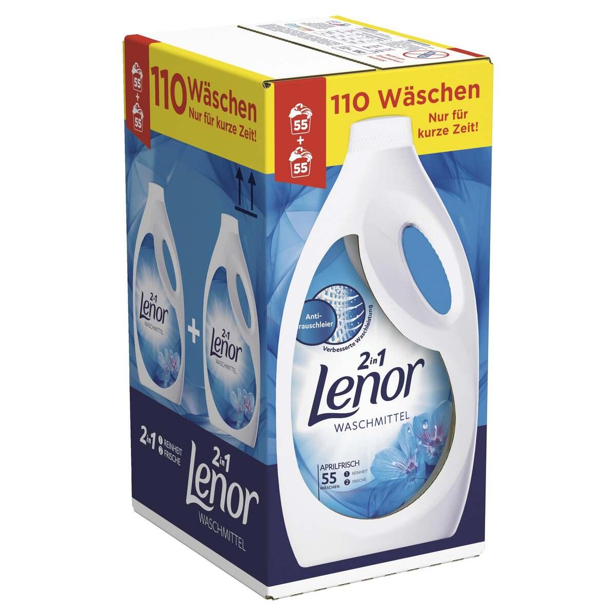 Bild 1 von Lenor Waschmittel Flüssig Aprilfrisch, 110WL