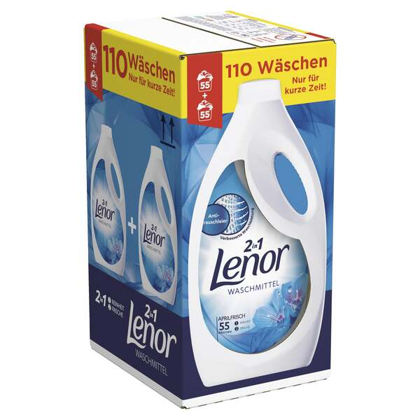 Lenor Waschmittel Flüssig Aprilfrisch, 110WL