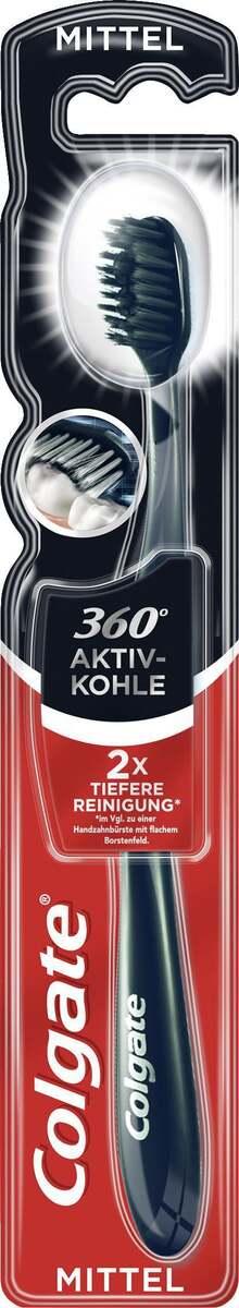 Bild 1 von Colgate Zahnbürste 360° Aktivkohle mittel