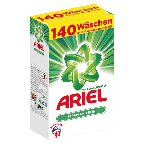 Ariel Vollwaschmittel Pulver, 140 WL