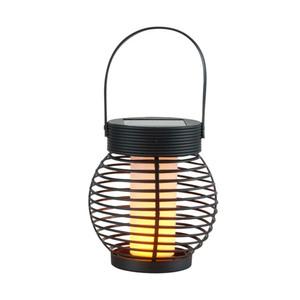 ProVida Solar Laterne mit Flammeneffekt 14 x 15 cm